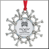 Pewter Photo Ornament - Dog Bones