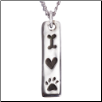 I Love My Dog - Sterling Silver Necklace