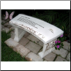 Rainbow Gate Pet Garden Memorial Bench
