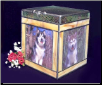Stained Glass Multi Photo Pet Urn