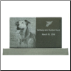 Photo Pet Monument Rectangular Grave Marker
