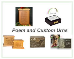 Poem and Custom Urns