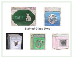 Stained Glass Urns
