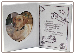 Greeting Card Porcelain Photo Frame