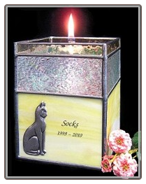 Stained Glass Pet Urn 1A