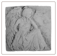 Angel Memorial Stone with a Kneeling Angel