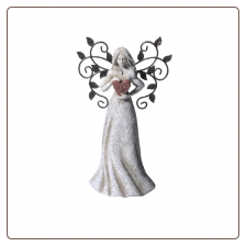 Small Angel with Heart Figurine