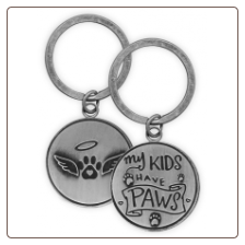 Memorial Token or Key Chain - My Kids Have Paws