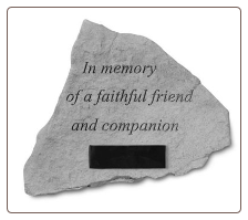 PERSONALIZED Garden Memorial Stone - 'In Memory . . . . . .'