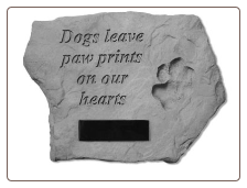 PERSONALIZED Garden Memorial Stone - Dogs