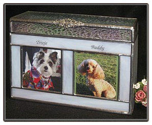Stained Glass Companion Pet Urn
