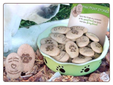 Paw Print Stone - Dog or Cat