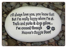 Heavens Doggie Door Ceramic Garden Rock for Dog Lover