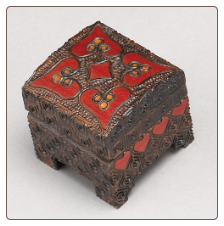"""A Polish Box Collection"" - Burned Heart Chest Box"