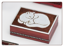 """A Polish Box Collection"" - Cat Wooden Urn / Memory Box"