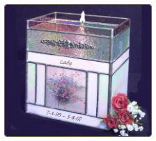 Stained Glass Photo / Candle Pet Urn