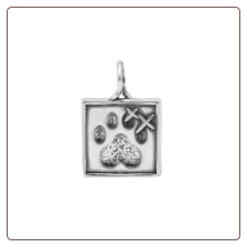 Dazzler Signature Paw Print Pendant - Sterling Silver Dog Lover Jewelry