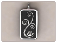 Journey Paws Pendant - Sterling Silver Dog Lover Jewelry