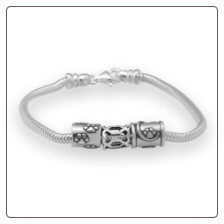"7.5"" Sterling Silver Screw Clasp Bracelet"