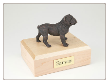 Bulldog Bronze Dog Breed Figurine Urn