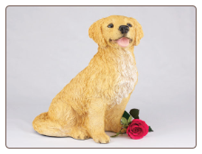 Golden Retriever Dog Figurine Garden Pet  Urn