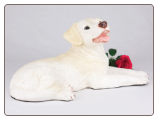 Labrador Retriever, Yellow - Dog Figurine Garden Pet  Urn