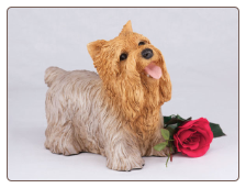 Yorkshire Terrier Terrier Dog Figurine Garden Pet  Urn