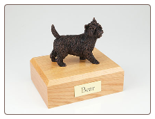 Cairn Terrier Bronze Dog Breed Figurine Urn