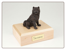 Chow Chow Bronze Dog Breed Figurine Urn