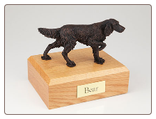 English Setter Bronze Dog Breed Figurine Urn