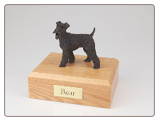 Fox Terrier Bronze Dog Breed Figurine Urn
