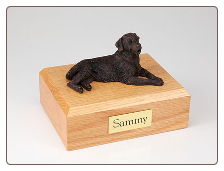 Golden Retriever Bronze Dog Breed Figurine Urn