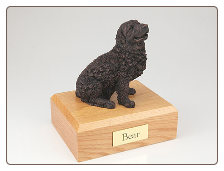 Newfoundland Bronze Dog Breed Figurine Urn