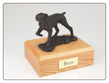 Pointer Bronze Dog Breed Figurine Urn