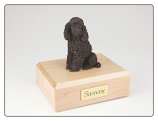 Poodle Bronze Dog Breed Figurine Urn