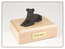 Schnauzer Bronze Dog Breed Figurine Urn