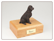 Springer Spaniel Bronze Dog Breed Figurine Urn