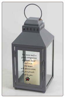 Pawprints Left By You Memorial Lantern