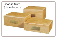 Traditional Hardwood Pet Urns