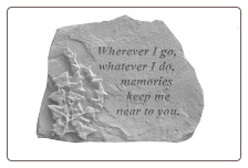 "Garden Remembrance Stone ""Always In Our Thoughts . . . . ."""