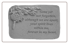 "Garden Remembrance Stone ""If Tears Could Build a Stairway . . . . ."""