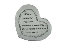 "Heartful Thoughts Memorial Stone - ""When Someone You Love . . . . ."""