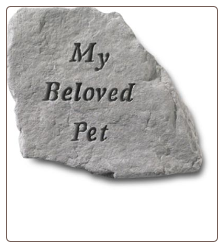 Garden Accent Rock / Headstone - 'My Beloved Pet'