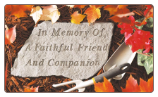 Garden Accent Rock - 'In Memory of a Faithful Friend and Companion'