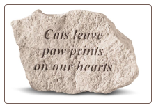 Garden Accent Rock with Quote - 'Cats Leave Paw . . . . . .'