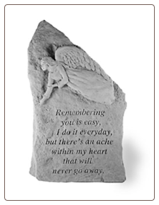 "Garden Memorial Stone Totem - ""Remembering you is easy..."" - by Kay Berry"