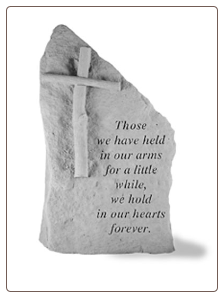 "Garden Memorial Stone Totem - ""Those we have held..."" - by Kay Berry"