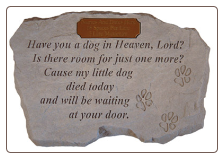 "Garden Accent Rock - ""Have you a dog in Heaven..."" - Personalizable"