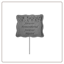 "Garden Memorial Stake - ""Walk Forever In My Garden"""