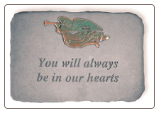 "Garden Memorial Stone - ""You Will Always Be In Our Hearts"""